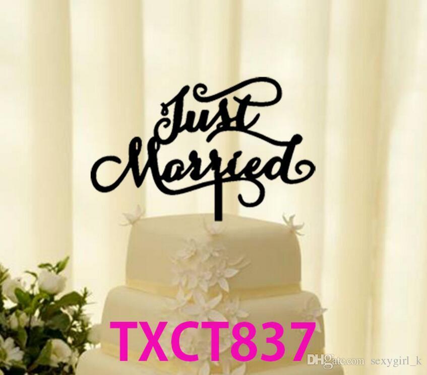 Acquista Decorazioni Feste Just Married Wedding Cake Accessorio Acrilico  Wedding Cake Toppers Sposa E Sposo Wedding Party Cake Stand Decorazioni A  $1.38 Dal