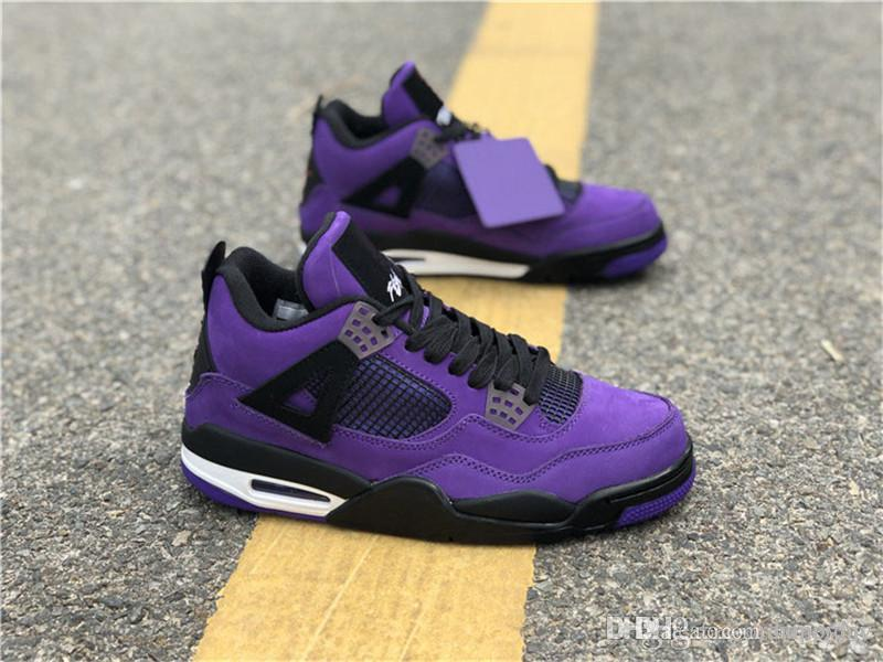 aef8d92be082 2018 Release 4 X Travis Scott 4S Cactus Jack IV Purple Blue Basketball  Shoes Sports Sneakers Authentic Quality 308497 406 308497 510 Canada 2019  From ...