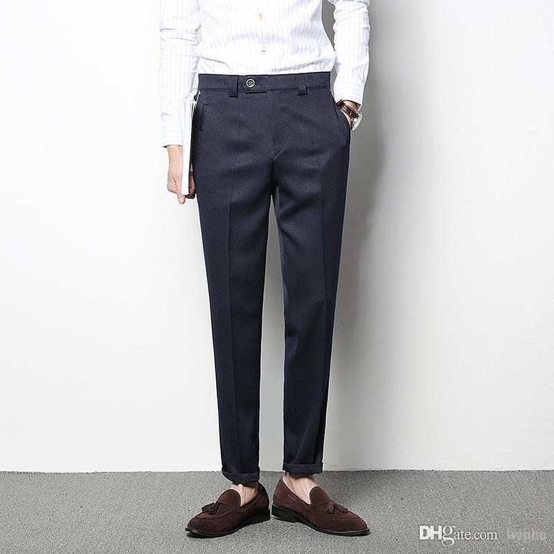 Casual Dress Pants Men 2018 New Spring Business Pants Suits Men