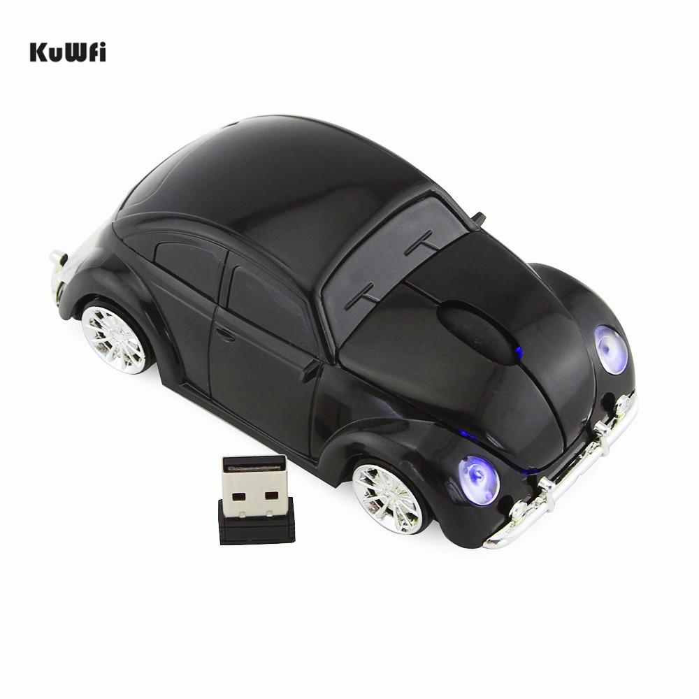 VW Beetle Car Shape Mouse 1600DPI Optical Electronic Gaming Mouse Wireless  Computer Cool With USB Receiver For PC