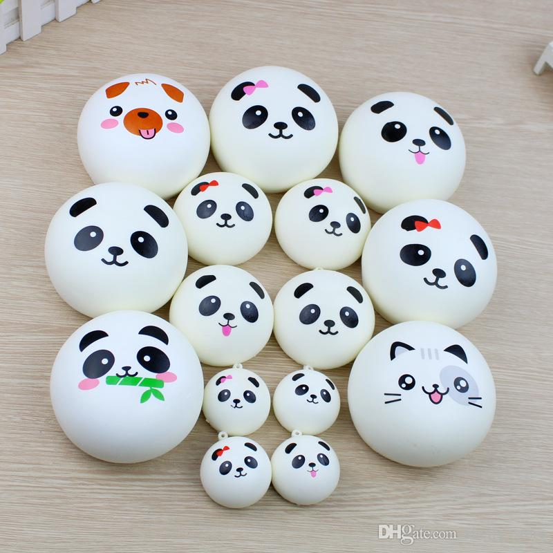 Bright Hot Selling Phone Key/bag Strap Pendant Squishes Bag Accessories Jumbo Panda Squishy Charms Kawaii Buns Bread Cell 7cm Luggage & Bags