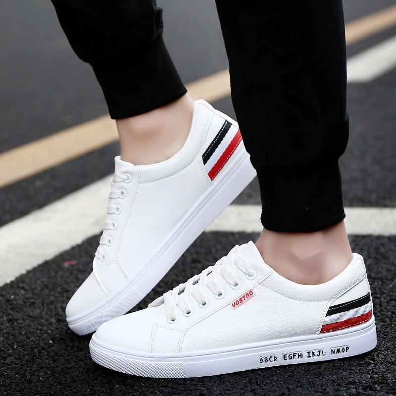 2018 Europe And America New Mens Casual Shoes Wholesale Trend Korean Spring Student Board Shoes Fashion Mens Shoes Navy Shoes Blue Shoes From Goodluck789