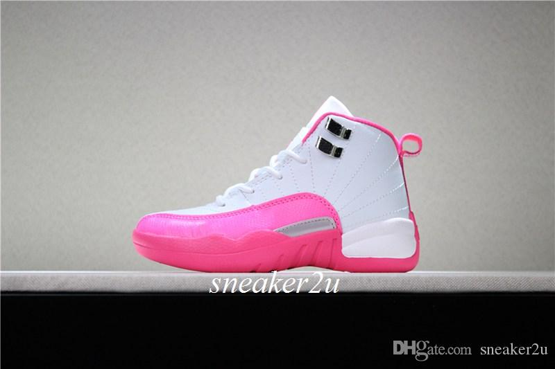 342176cccf2f34 Kids 12 VALENTINES DAY Basketball Shoes White Vivid Pink-mtllc ...