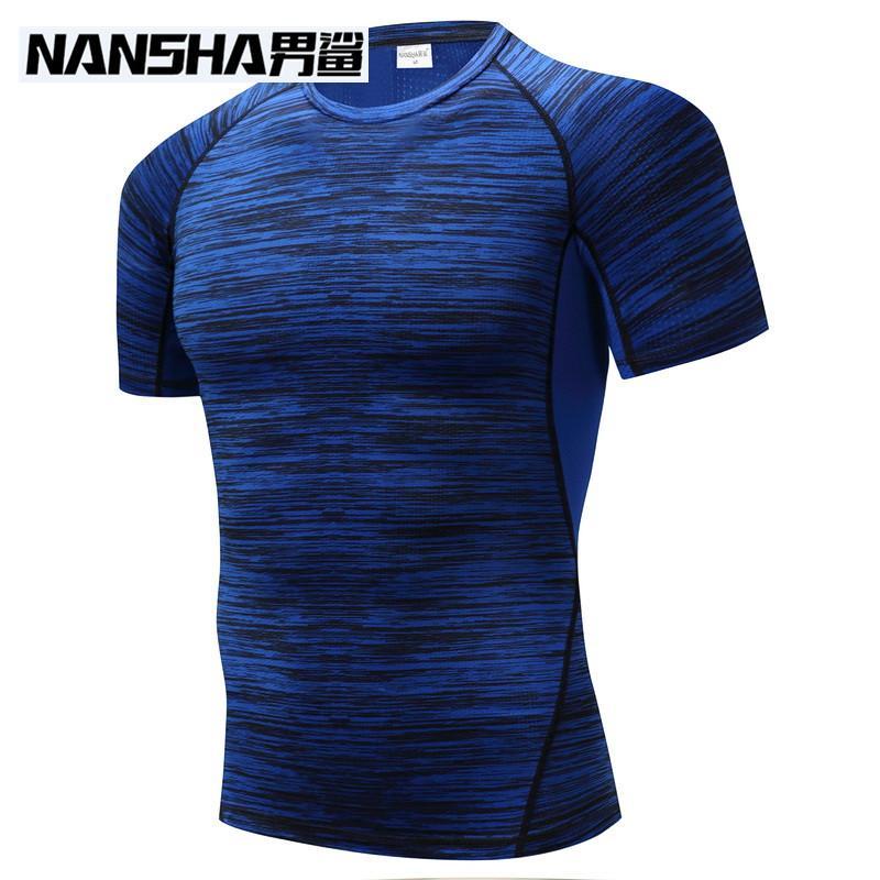 20cee359918 NANSHA Brand Clothing Men S Short Sleeve T Shirts Compression Shirt  Crossfit T Shirt Men Workout 3D Fitness Tights Top Buy T Shirt Designs  Printing Tee ...