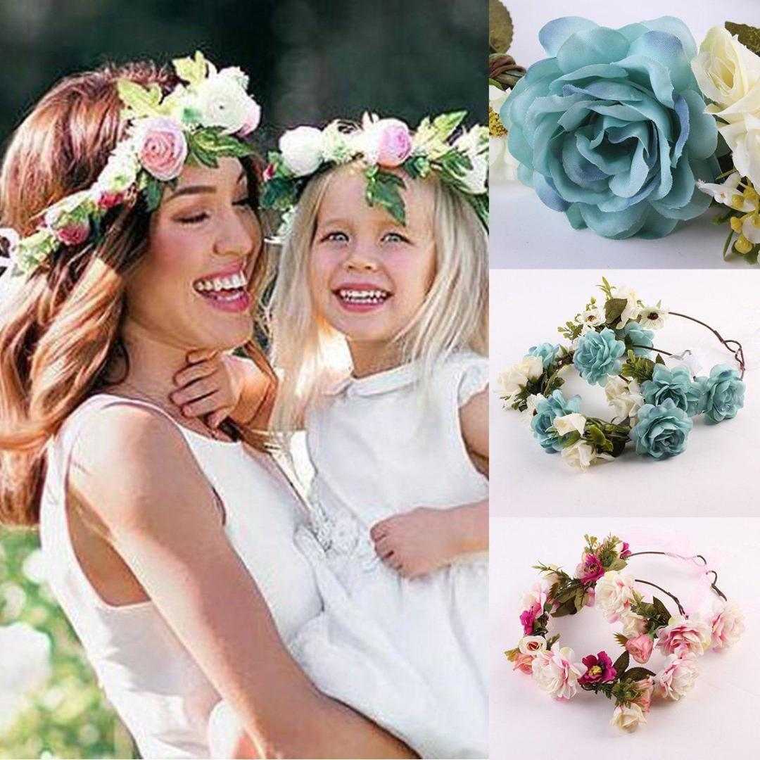 Mom and kids wreath flower headband travel flower crown girl hair mom and kids wreath flower headband travel flower crown girl hair accessories wedding hairbands dance hair accessories natural hair accessories from jamani3 izmirmasajfo