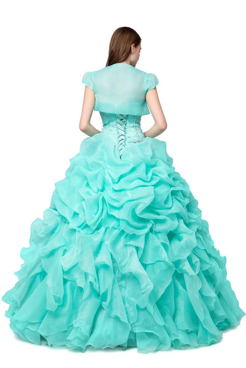 Mint Green Платья Quinceanera Дешевые 2019 бальное платье Маскарад Пром платья Real Photo Кристалл бисером оборками ярко-розовый сладкий 16 платье