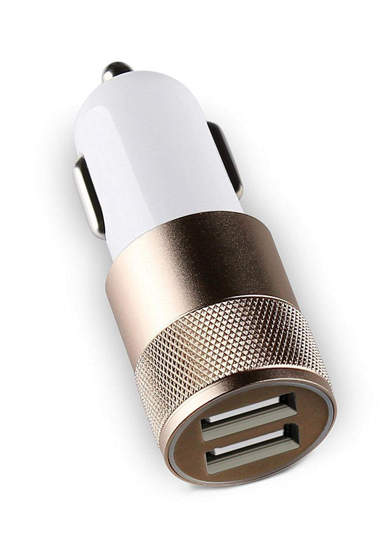 Dual USB Car Charger Adapter 3.1A Rapid Dual Port USB Car Charger for Android Universal Cell Phone Samsung Galaxy iPhone X