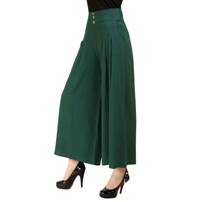 2017 Summer New Career Women Trousers Palazzo Wide Leg High Loose Fashion Style Nine Pants Plus Size 2XL 3XL