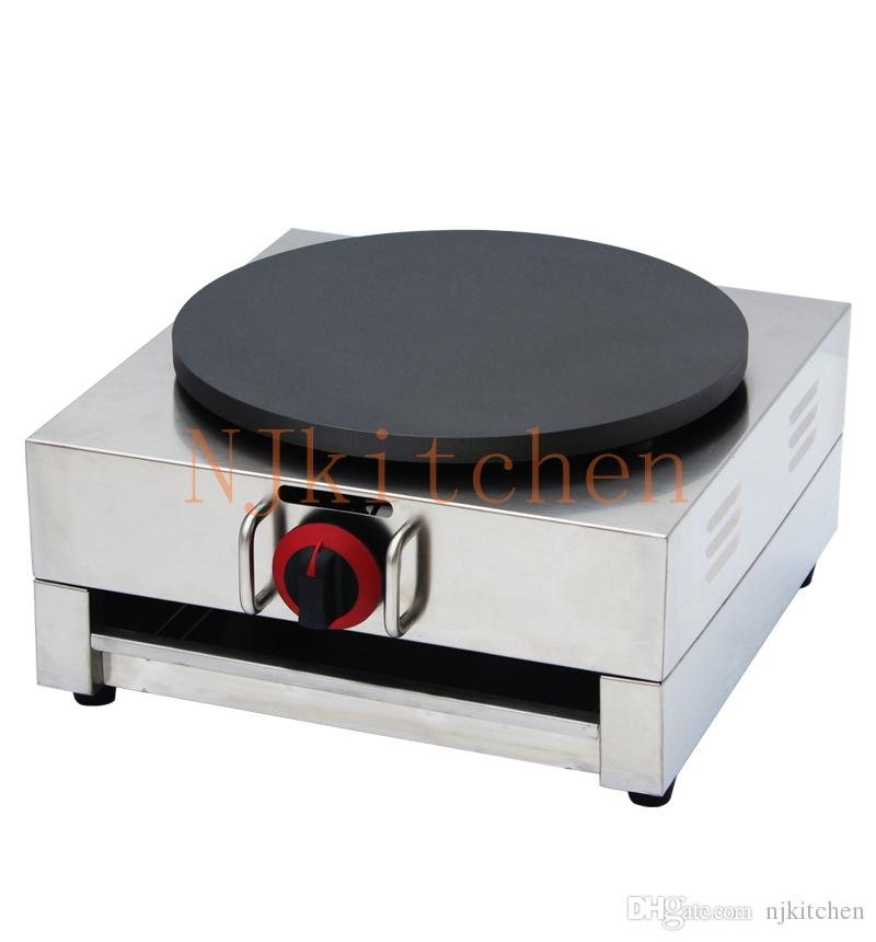 Livraison Gratuite Gaz Industriel En Fonte Simple Crêpe Crêpe Cône Maker Machine Machine Plaque Chaude Plancha Moule Pour Vente