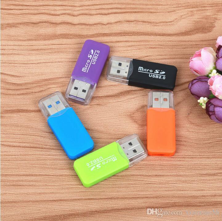 Adaptateur USB 2.0 Portable Micro SD SDHC Lecteur de carte mémoire Écrivain Lecteur Flash