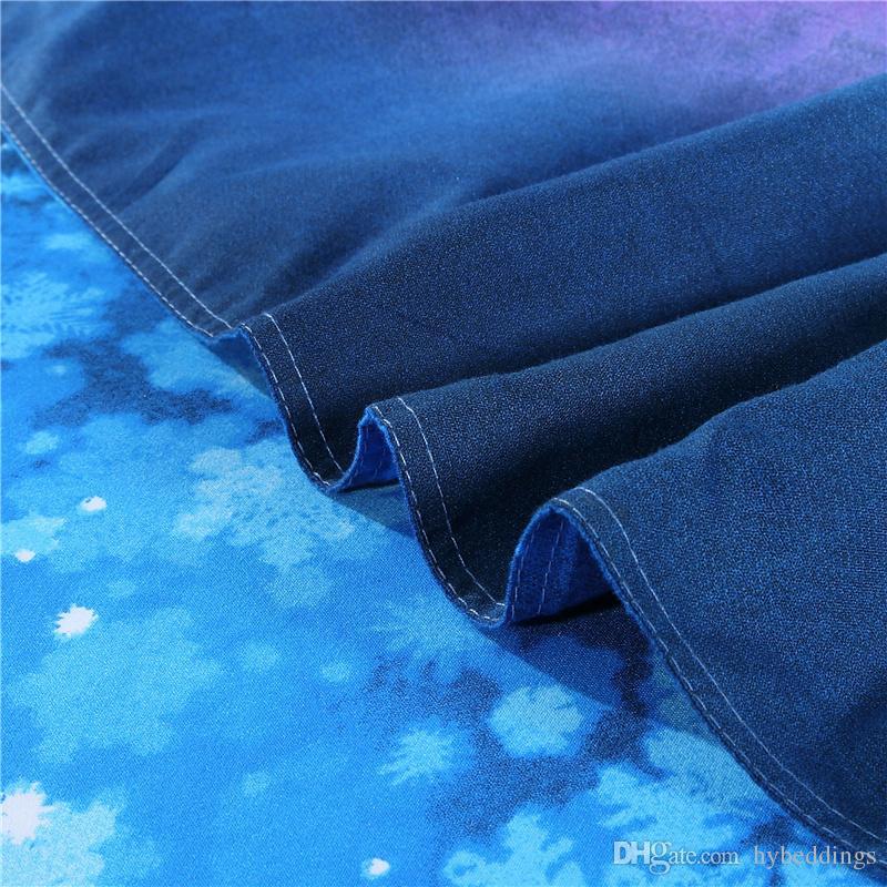 3d Fantastic Horse Bedding Sets Blue Dream Duvet Cover Set Pillowcases Multi Size 2/3/Twin Queen King Size
