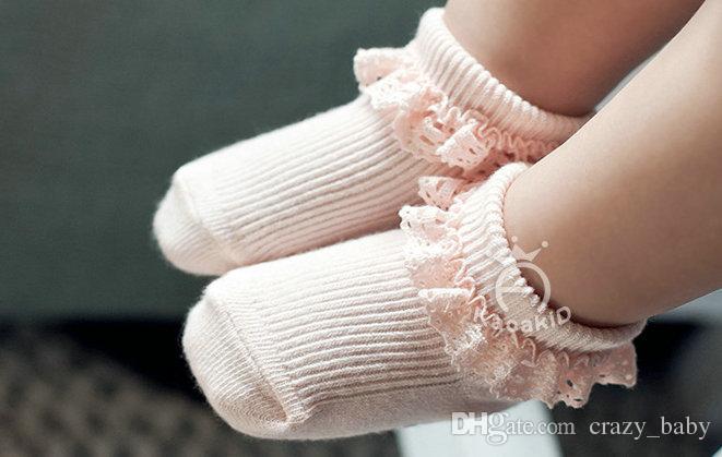 2 paia / lotto Fashion Lace Baby Socks Neonate neonato in cotone calzino carino bambino calze Princess Party