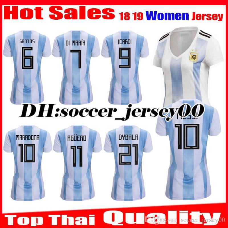 2018 2019 Women World Cup Argentina Girl Soccer Jersey 1819 MESSI DI MARIA  AGUERO KOMPANY DYBALA Higuain Home Jerseys ICARDI Football Shirts UK 2019  From ... 7d9352c88
