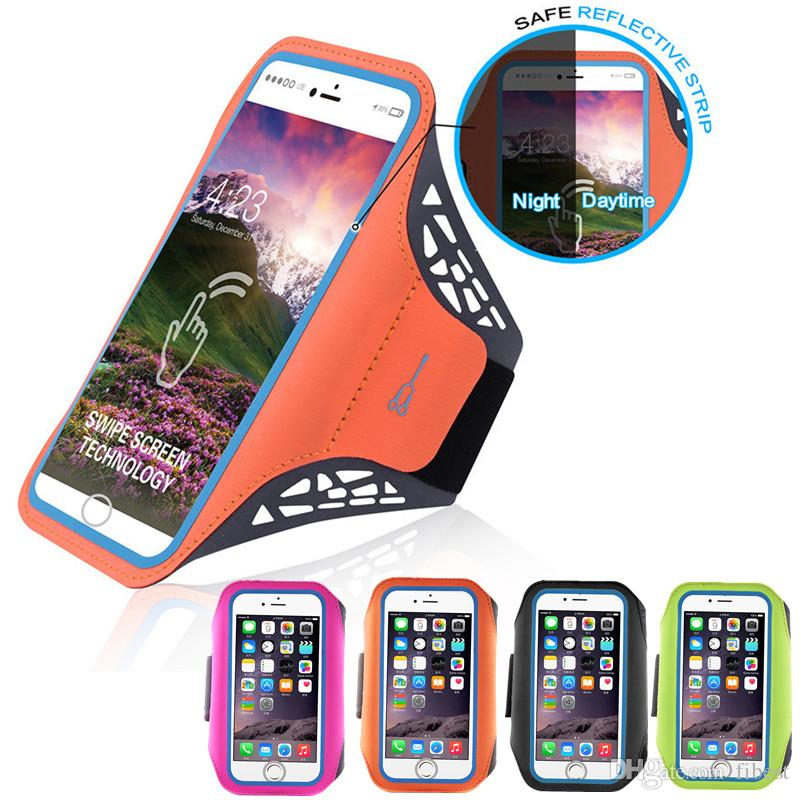 buy popular 37798 5c1e9 iPhone 6 7 8 Plus Case Running Sport Armband Unlock with Fingerprint  4.7/5.5 inch Phone Cover Holder Fitness Sports Arm Bag