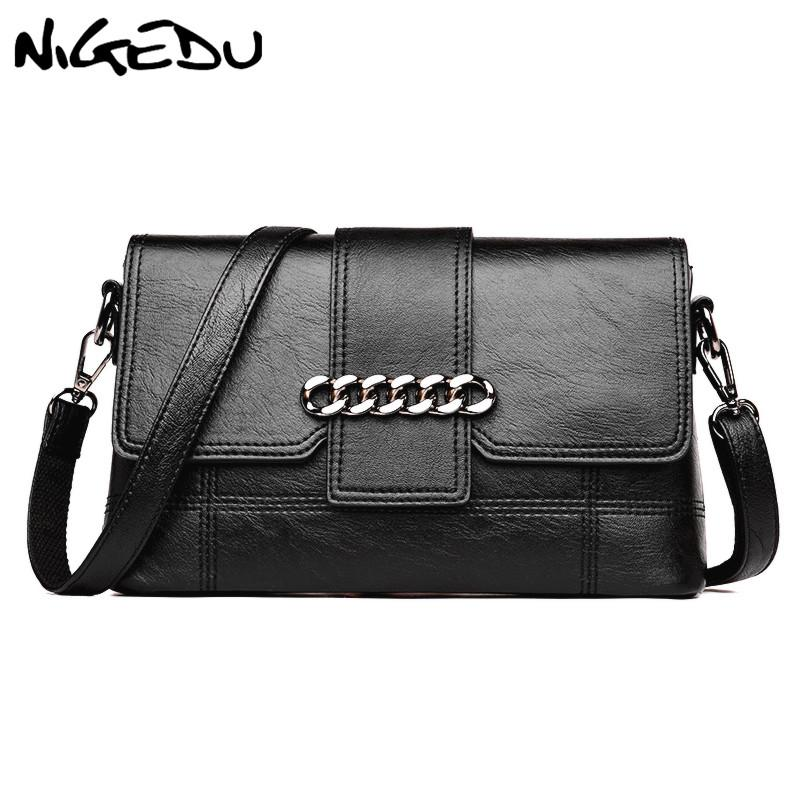 d8424f5f06ee NIGEDU Fashion Chain Women Messenger Bags Small Soft PU Leather Handbags  Crossbody Bag For Female Shoulder Bag Clutches Bolsas Branded Handbags  Ivanka Trump ...