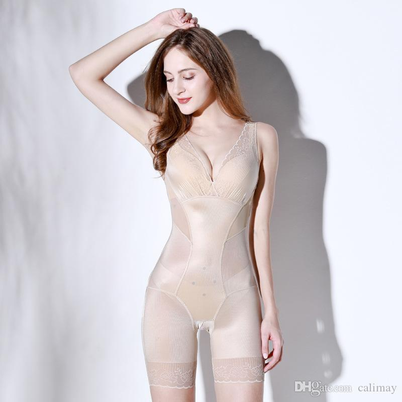 beae170bbd 2019 Womens Full Body Shapewear Anion Shaping Underwear Body Shaper Clothes  Corset Slimming Weight Loss Reductive Strip Woman From Calimay
