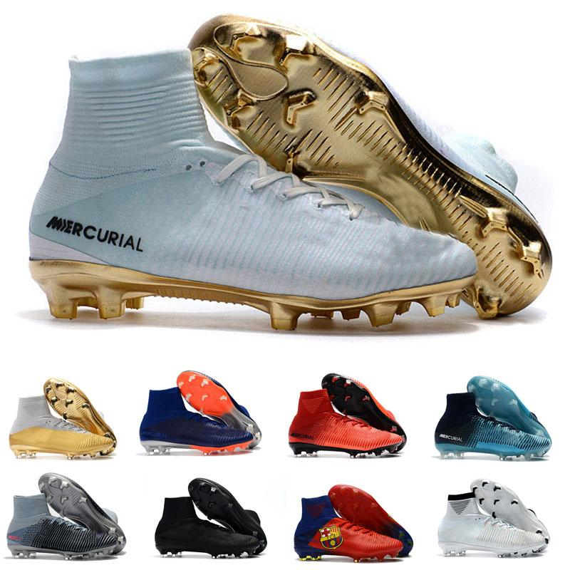 2018 New Mens Football Shoes Mercurial Superfly V CR7 Outdoor Soccer ... c92960cf1cab