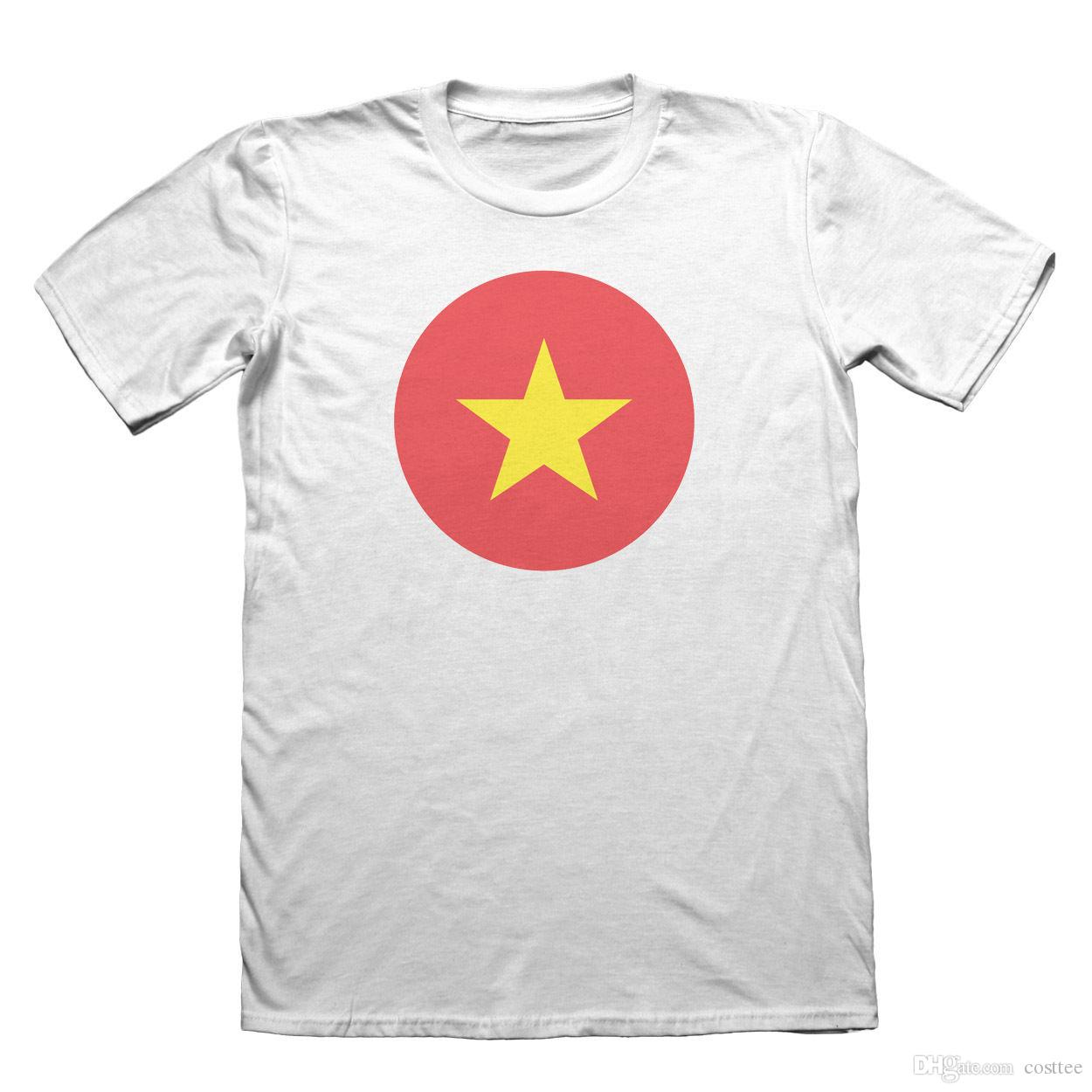 fd0fc79aa5b Vietnam Flag T Shirt Men S Fathers Day Christmas  9083 White Shirts Funny T  Shirts For Men From Costtee