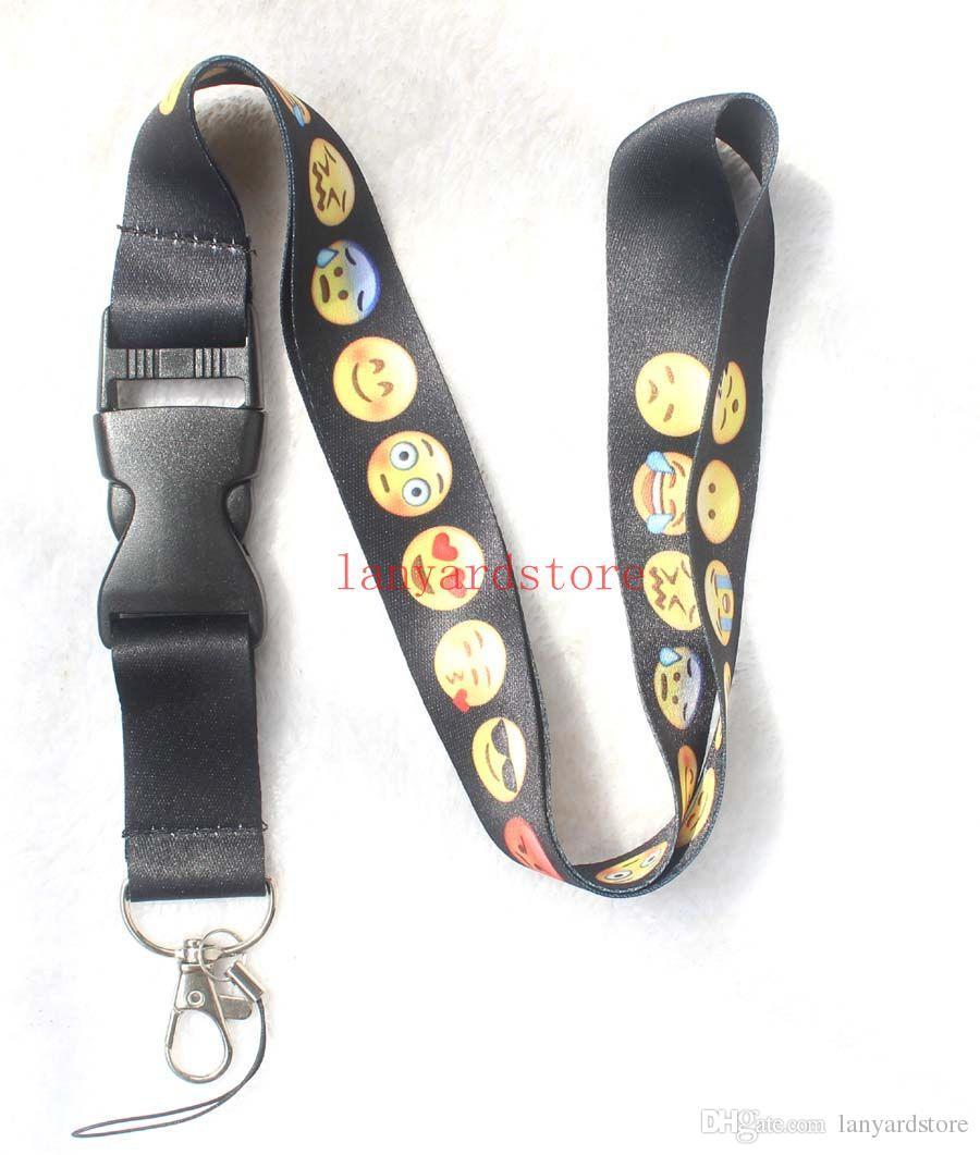 Новый стиль Мотивы улыбающегося лица ремешок для ключей цепочка для ключей брелки ID Badge Ipod держатель для мобильного телефона ремешок Камера висит веревка шеи группа 10p