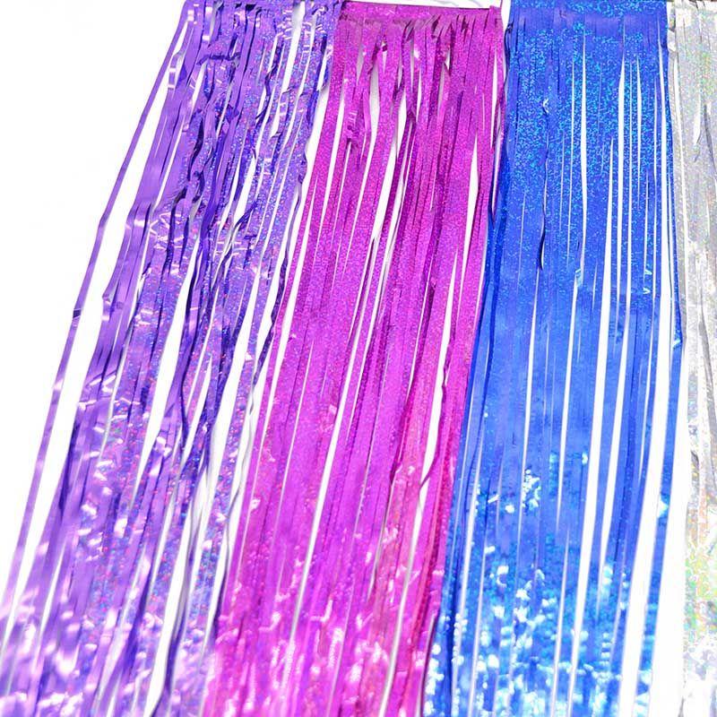 10 * 100 cm Tinsel Fringe Glitter Cortina Porta Chuva Home Room Wedding Party Decor Stage Fundo Cenário Foto Adereços Suprimentos
