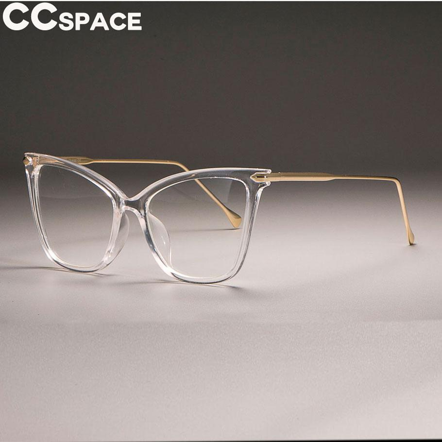 60adf022a7d3 2019 2018 Transparent Frame Cat Eye Glasses Frames Women Sexy Retro CCSPACE  2018 Brand Designer Optical Fashion Computer Glasses From Jianyue16