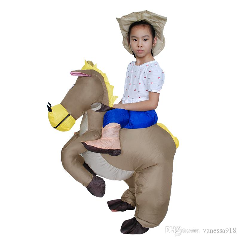 il più grande sconto offrire In liquidazione Acquista Carnevale Di Natale Costumi Animali Gonfiabile Cowboy Horse Mascot  Costume Adulti Bambini Purim Halloween Bambini Dress LJ 016 A $26.64 Dal ...
