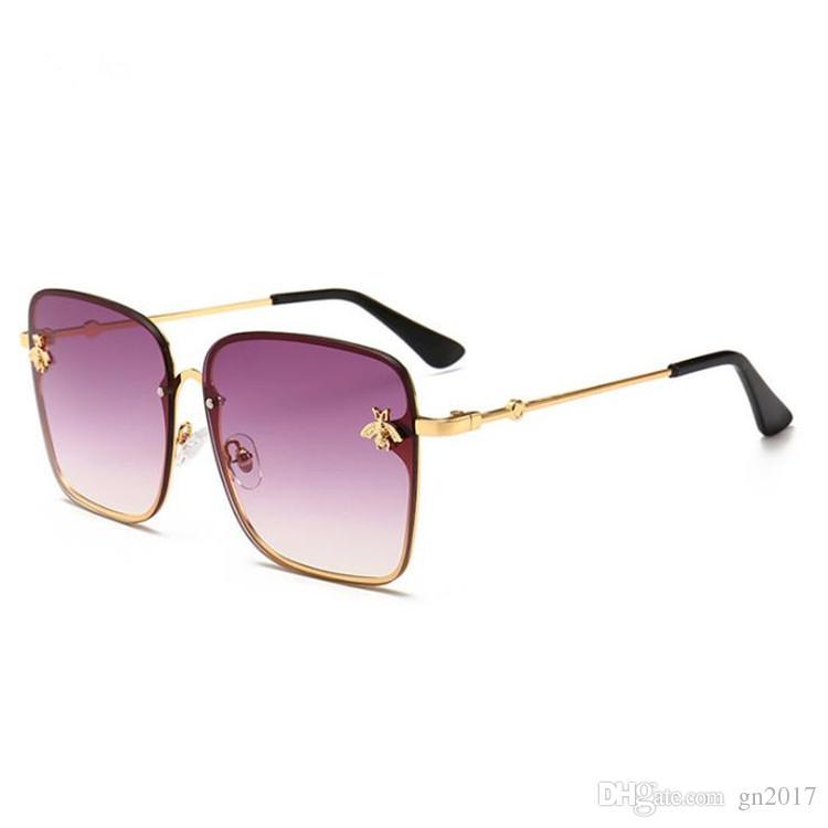 e4f1ee4b02 Compre Moda Para Mujer Personalidad Monturas Cuadradas Gafas De Sol Con  Montura Grande Gafas De Sol Little Bee Anteojos Decorativos Anti UV Gafas A  $5.69 ...