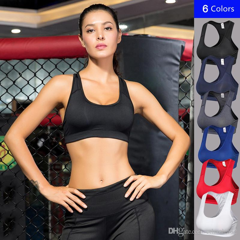 1b3287363fac2 NEW Women Yoga Vest Seamless Sports Bras Women Wirefree Padded Yoga ...