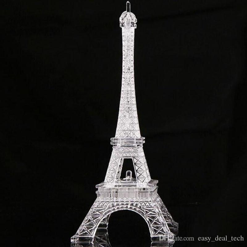 Der große bunte leuchtende Nachtlicht-Eiffelturm des romantischen Valentinstags in Paris führte kreative Geschenklampe Q0525