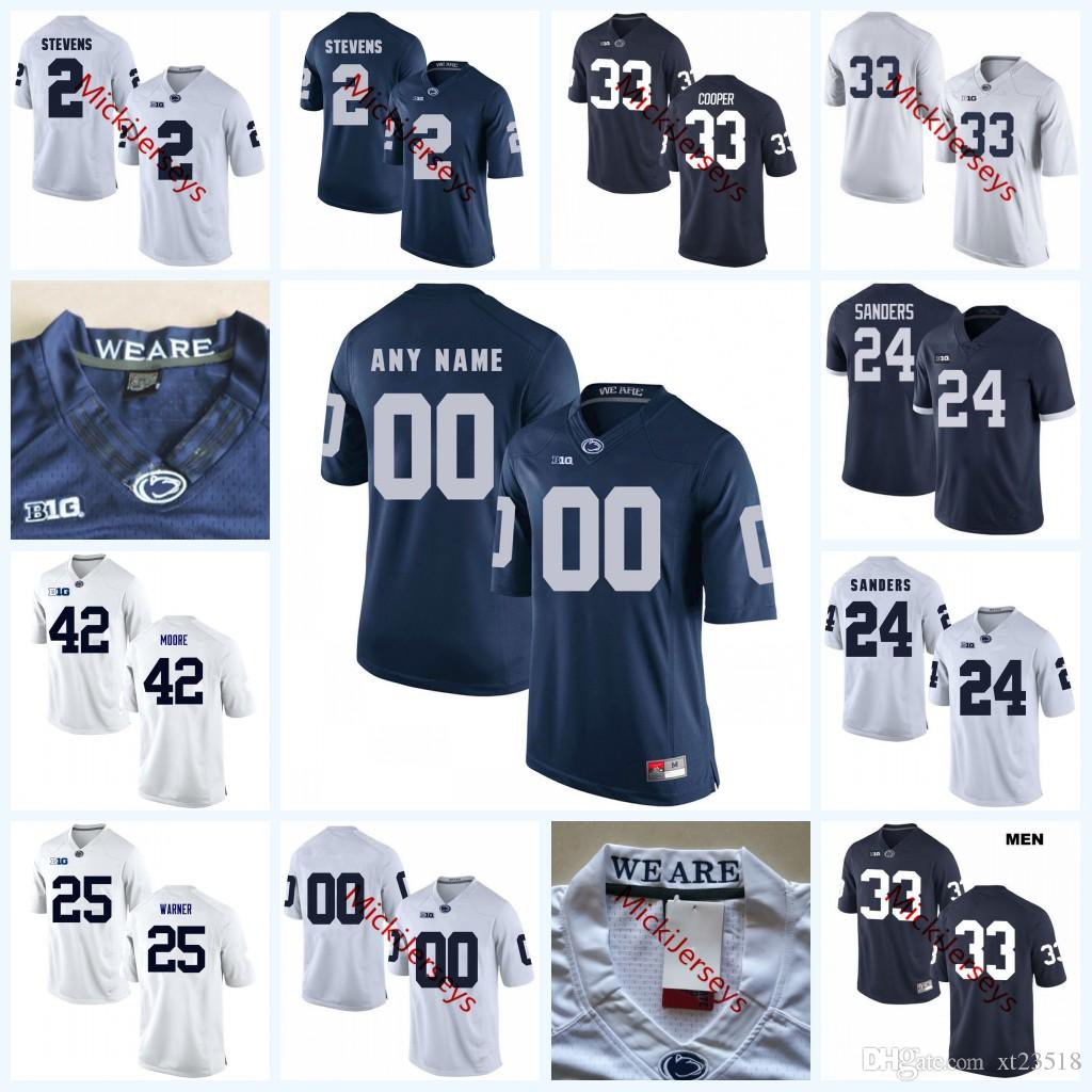 2019 Custom NCAA Penn State Nittany Lions College Football Jerseys Connor  McGovern Jake Cooper Miles Sanders Curt Warner LENNY MOORE PSU Jersey From  Xt23518 ... 825fa5c5d