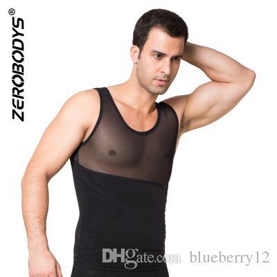 Poderoso para hombre Body Shaper Chaleco Powernet alto M L XL Negro Blanco Fajas para el cuerpo Hombres Cintura Cincher Shape Wear