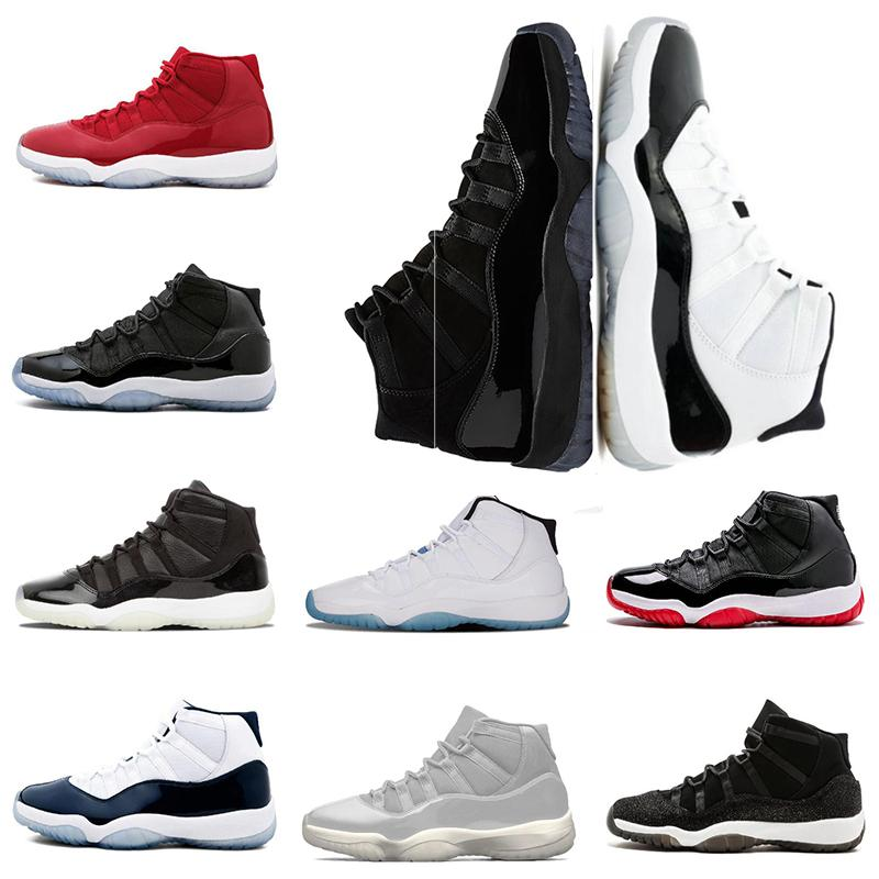finest selection 2ce37 080f4 Großhandel Nike Air Jordan 11 Retro AJ11 2018 Herren Basketballschuhe 11  Gym Red WIN LIKE 82 Mitternachtsmarine PRM Erbin Schwarz Stingray 11s  Athletic ...