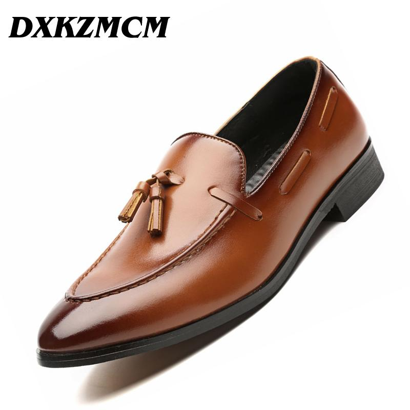 DXKZMCM Handmade Men Dress Shoes Leather Formal Business Men Oxfords Shoes  Wedding Party Brogue Shoes Formal Shoes Cheap Formal Shoes False Online  with ... 645824c24fa6