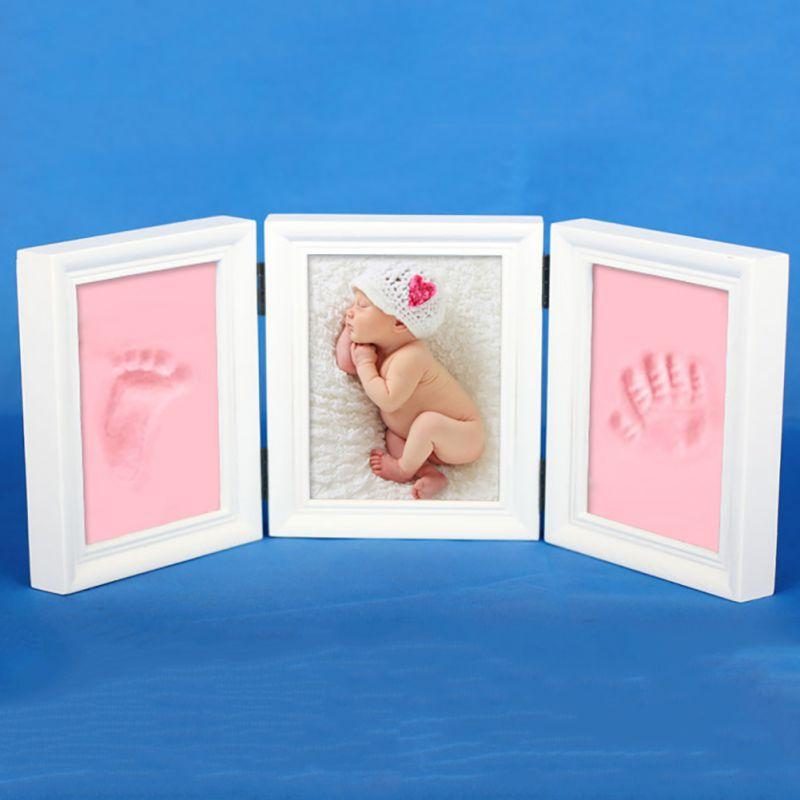 DIY Personality Photo Frame Imprint Soft Clay Cute Baby Footprint Hand  Print Cast Set Best Gift for Baby