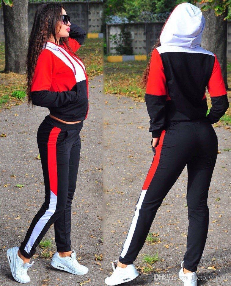 Cheaper Price Womens Two Piece Set Hoodies Jacket 2PCS Set Autumn Fashion Tracksuit 2pcs Sports Suit Female Sportswear Running Clothing
