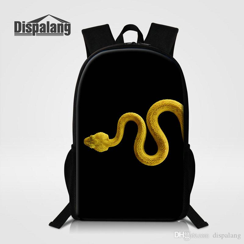 6b4e2e3def25 Animal Snake Printing School Bags For Teenage Boys Middle School Students  Backpacks Male Bagpacks Children Backpacking Cool Rugtas Rucksack
