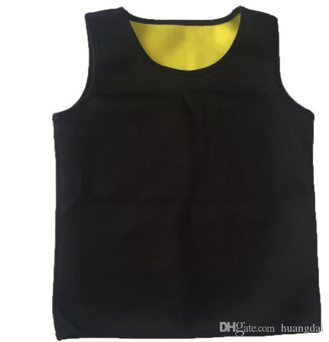 Мужчины Body Shaper Жилет Тренажерный Зал Неопрена Сауна Ультра Тонкий Корсет Для Похудения Пот Рубашка Body Shaper Тонкий Животик Живота Спортивный Жилет