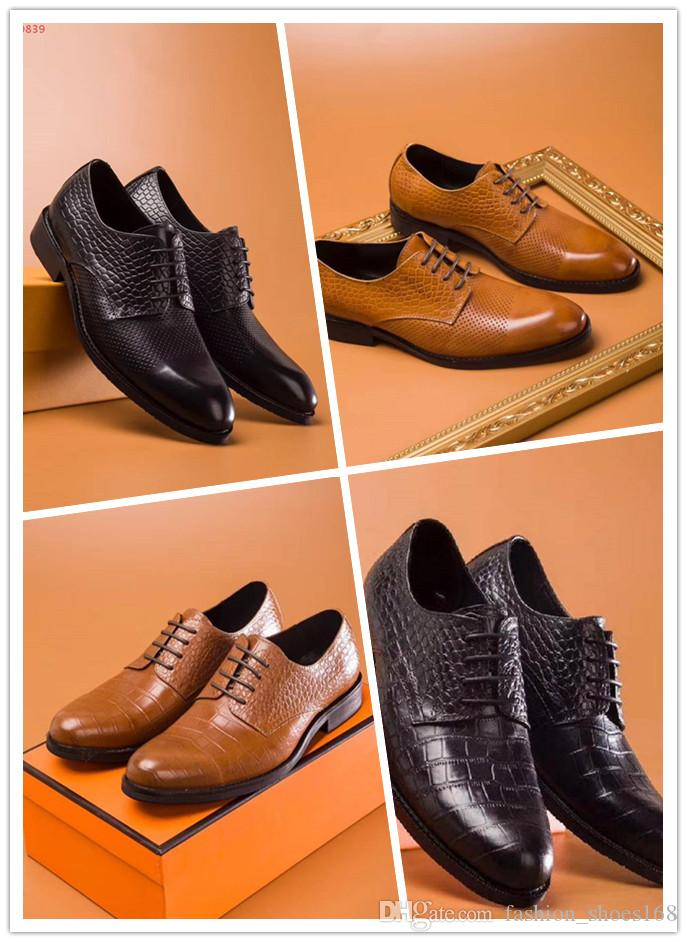 6c586fe0c5 2018 New model Original quality leather fashion casual low heel comfortable  breathable Oxford business men s leather shoes Size 38-45
