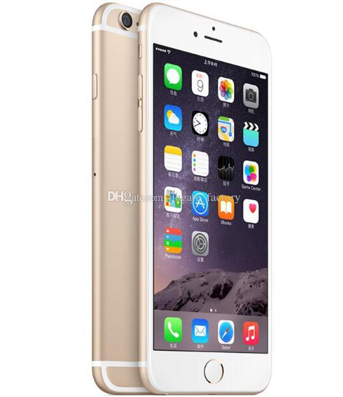 4.7inch d'origine pour iPhone 6 Plus iPhone6 IOS Phone 8.0 MP Appareil photo sans contact ID 4G LTE Téléphones cellulaires déverrouillés Remis à neuf