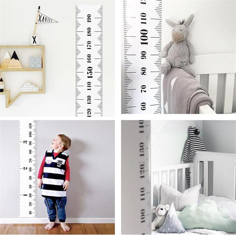 Children Kids Growth Chart Height Ruler Wall Sticker Ruler Growth