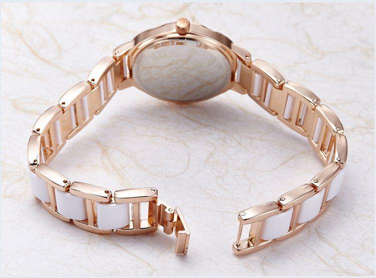 Damenmode Quarzuhr 44555 der keramischen Armbanduhr dünne Art und Weise