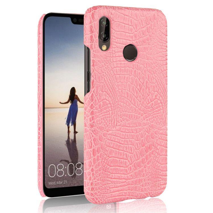 Huawei P20 için lite nova 3E 2 S Lüks Timsah Yılan Deri Kılıf Arka Kapak Huawei P20 pro zevk 7 S P akıllı