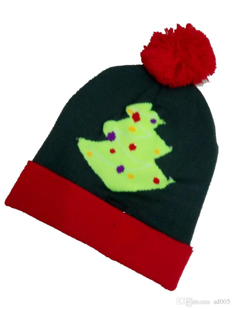 Women Winter Beanie Led Colorful Luminous Discoloration Christmas Hat  Christmas Tree Snowman Caps Casquette Hot Sale 15dl Gg Beanie Boo Trucker  Hats From ... 7cdebf77fca