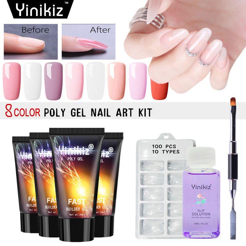 Yinikiz 30g Jelly Gel Polish Kit Crystal Uv Fast Extension Acryl Gel ...