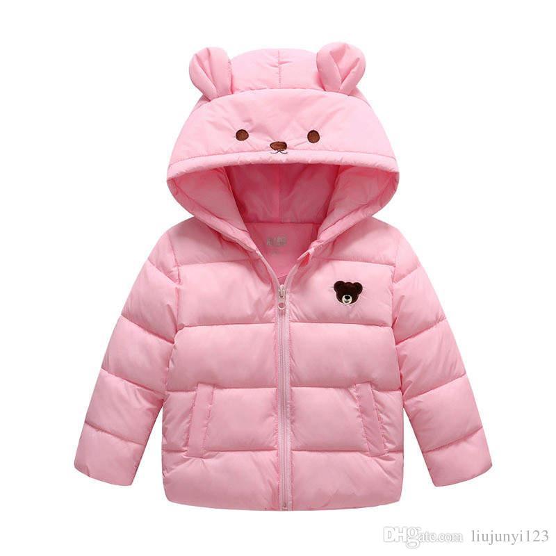 c8adbdfeb Chaqueta de invierno para niños, niños, prendas de vestir exteriores con  capucha, dibujos animados para bebés, niñas, niños, ropa de abrigo para ...