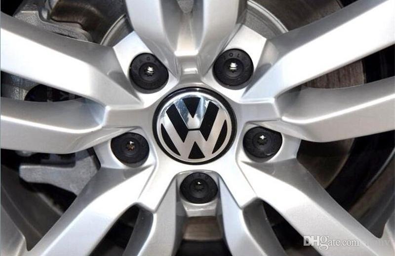 2018 Hot Sale 65mm Car Wheel Cover Badge Wheel Hub VW Center Caps Emblem For VW 2010 TOUARET