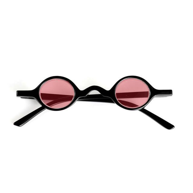 be110875f8 2018 Brand Designer Small Round Punk Sunglasses Men Women TR90 Frame ...