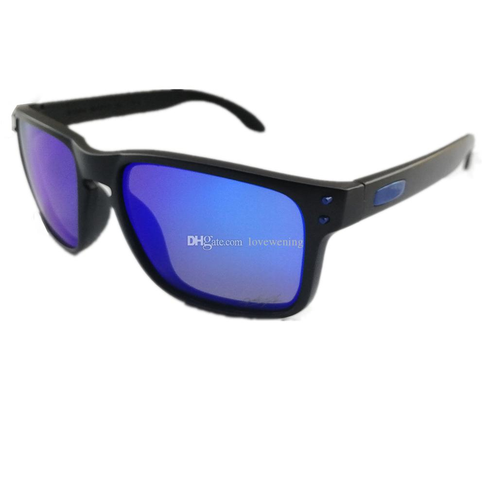 009b61d39c 2018New O Series HOLBR OO9102 TR90 Black Frame Blue Logo Polarized ...
