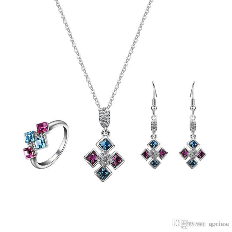 925 Jewelry Silver Plated Jewelry Set,cheap Bridal Party Sets,simple 8 Letter Fashion Silver Necklace Earring Ring Three-piece Back To Search Resultsjewelry & Accessories
