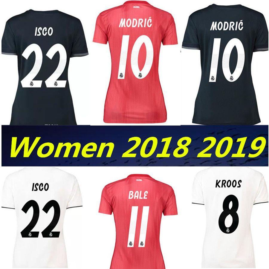 Real Madrid 2019 Mujeres Tercera Camiseta De Fútbol Roja 18 19 BALE RAMOS  ISCO MODÉN ASENSIO BENZEMA Camiseta De Fútbol Camisetas Femeninas Por  Xn666777 2c0da77913fc9